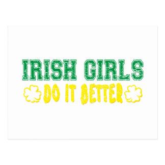 Los chicas irlandeses mejora tarjetas postales