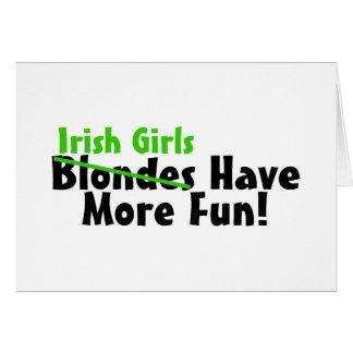 Los chicas irlandeses se divierten más felicitacion