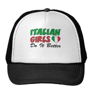 Los chicas italianos mejora gorro de camionero