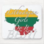 ¡Los chicas lituanos lo hacen mejor! Alfombrilla De Ratón