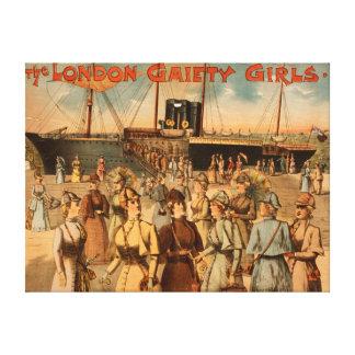"""Los chicas """"llegada de la alegría de Londres a Nue Impresiones De Lienzo"""