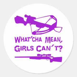 ¿Los chicas malos de What'Cha no pueden? Pegatina Redonda