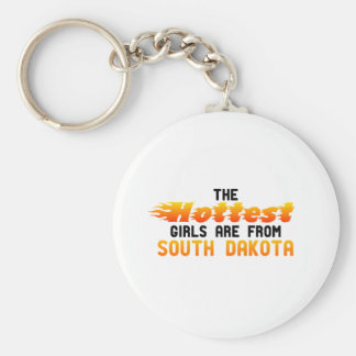 Los chicas más calientes son de Dakota del Sur Llaveros Personalizados