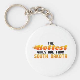 Los chicas más calientes son de Dakota del Sur Llavero Personalizado
