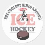 Los chicas más frescos alrededor del hockey sobre  pegatinas