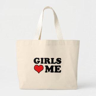 Los chicas me aman bolsa tela grande