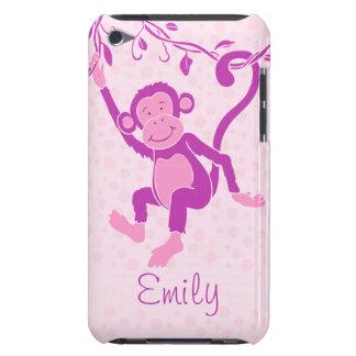 Los chicas monkey la caja conocida púrpura y rosad Case-Mate iPod touch carcasa