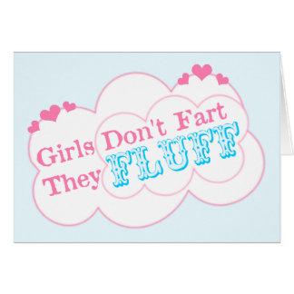 Los chicas no fart ellos Fluff Tarjeton