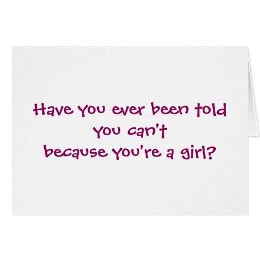 ¿Los chicas no pueden QUÉ? Batería Felicitacion