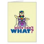 ¿Los chicas no pueden QUÉ? Batería Tarjeta De Felicitación