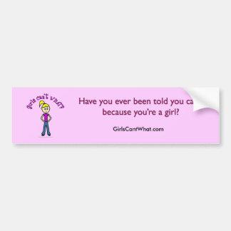 ¿Los chicas no pueden QUÉ? Chica de la Logotipo-Lu Pegatina Para Auto