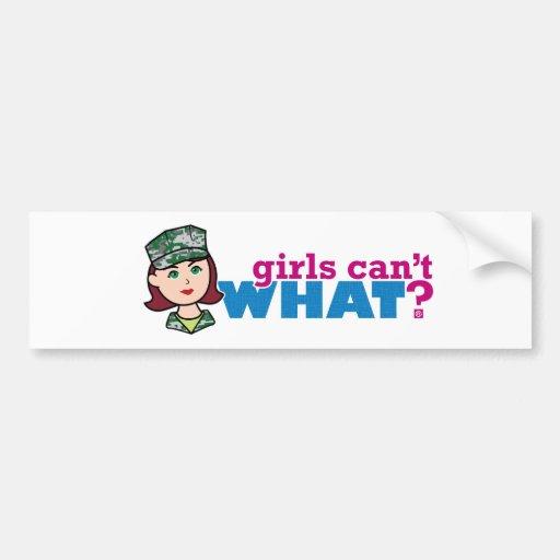 ¿Los chicas no pueden QUÉ? Colorize que crea para  Etiqueta De Parachoque