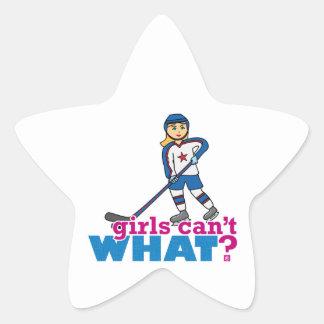 ¿Los chicas no pueden QUÉ? Colorize que crea para Pegatina En Forma De Estrella