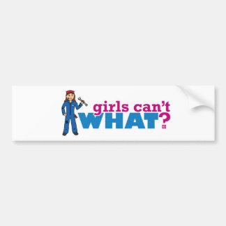 ¿Los chicas no pueden QUÉ? Colorize que crea para Pegatina Para Auto