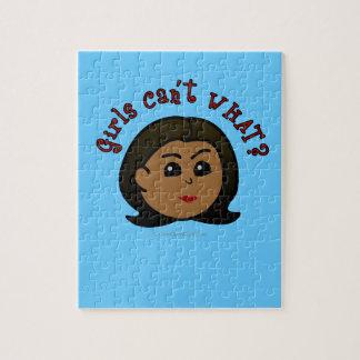 ¿Los chicas no pueden QUÉ? Logotipo Cabeza-Oscuro Puzzles