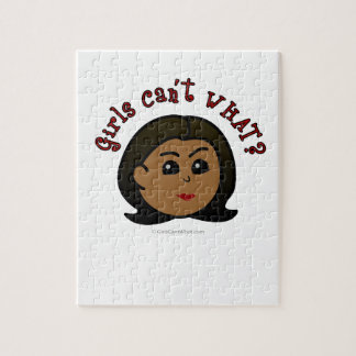 ¿Los chicas no pueden QUÉ? Logotipo Cabeza-Oscuro Rompecabezas Con Fotos