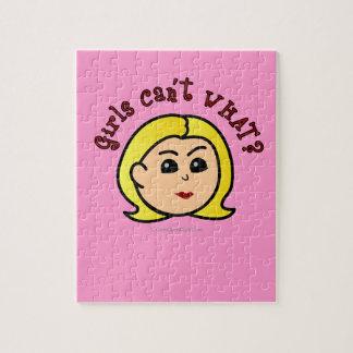 ¿Los chicas no pueden QUÉ? Logotipo Cabeza-Rubio Puzzle Con Fotos