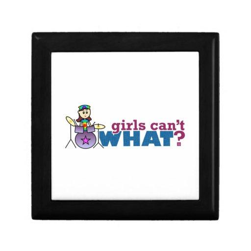 ¿Los chicas no pueden QUÉ? Logotipo del batería de Caja De Recuerdo