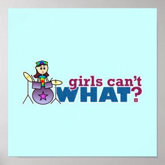¿Los chicas no pueden QUÉ? Logotipo del batería Póster