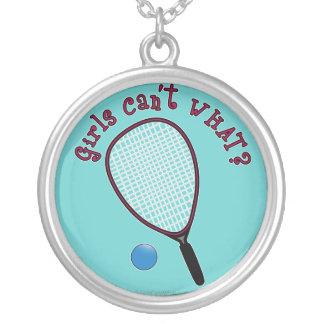 ¿Los chicas no pueden QUÉ? Raquetball Joyeria Personalizada