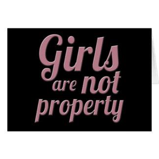 Los chicas no son propiedad tarjeta de felicitación