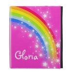 Los chicas nombraron el arco iris caja rosada bril