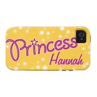 Los chicas nombraron el caso del iphone del rosa d vibe iPhone 4 carcasa