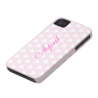 Los chicas personalizados de la inicial A nombran Case-Mate iPhone 4 Fundas