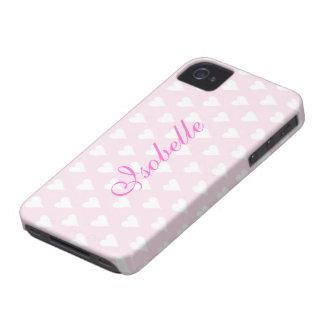 Los chicas personalizados de la inicial I nombran Case-Mate iPhone 4 Fundas