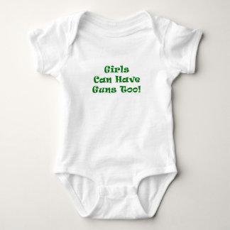 Los chicas pueden tener armas también body para bebé