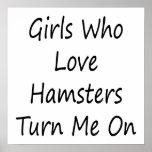 Los chicas que aman hámsteres me giran poster