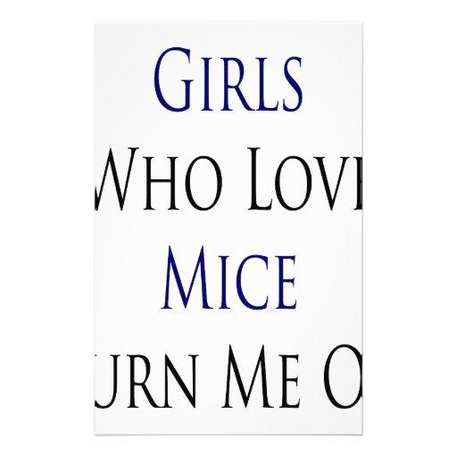 Los chicas que aman ratones me giran papelería personalizada