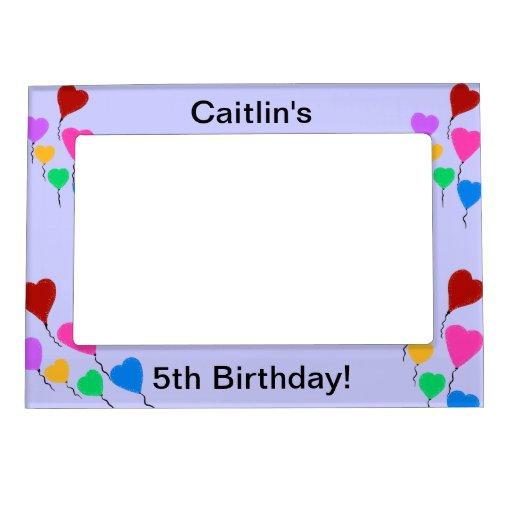 Los chicas que el corazón del cumpleaños hincha la marcos magneticos para fotos