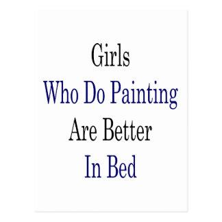 Los chicas que hacen la pintura son mejores en postales