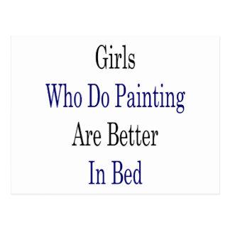 Los chicas que hacen la pintura son mejores en tarjeta postal