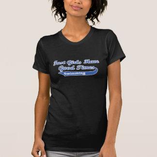 Los chicas rápidos tienen buenas épocas (azules) camisetas