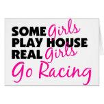 Los chicas reales de la casa del juego de algunos  tarjetas