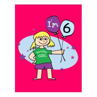 Los chicas rubios soy el 6to cumpleaños 6 postales