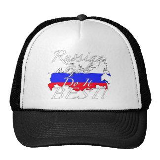 ¡Los chicas rusos lo hacen mejor! Gorras De Camionero