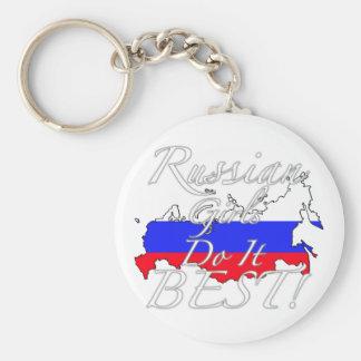 ¡Los chicas rusos lo hacen mejor! Llavero Redondo Tipo Pin
