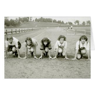 Los chicas siguen, los años 20 tarjeta de felicitación