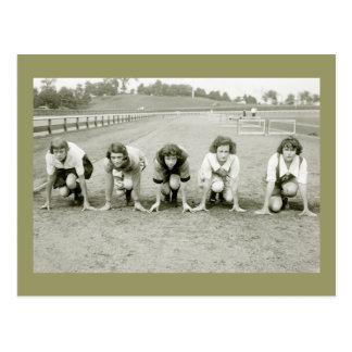 Los chicas siguen, los años 20 tarjetas postales