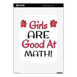 ¡Los chicas SON buenos en la matemáticas! Calcomanía Para iPad 2