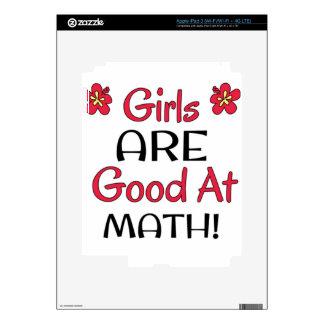 ¡Los chicas SON buenos en la matemáticas! Pegatinas Skins Para iPad 3