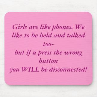 Los chicas son como los teléfonos tapetes de ratones