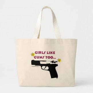 Los chicas tienen gusto de los armas también bolsa tela grande