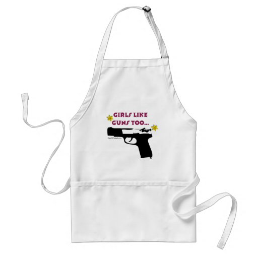 Los chicas tienen gusto de los armas también delantales