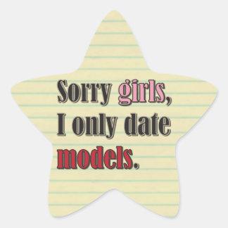 Los chicas tristes, fecho solamente modelos pegatina en forma de estrella