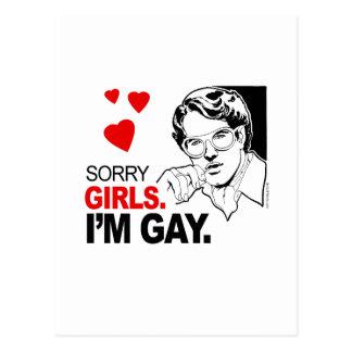 Los chicas tristes soy gay tarjeta postal