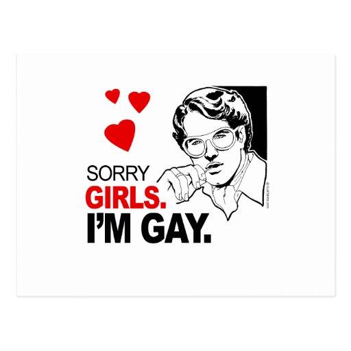 Los chicas tristes soy gay tarjetas postales